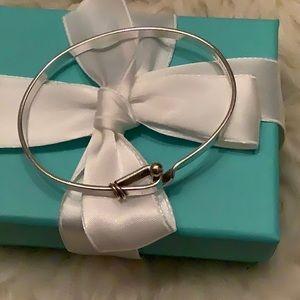 Tiffany hook and eye bangle bracelet